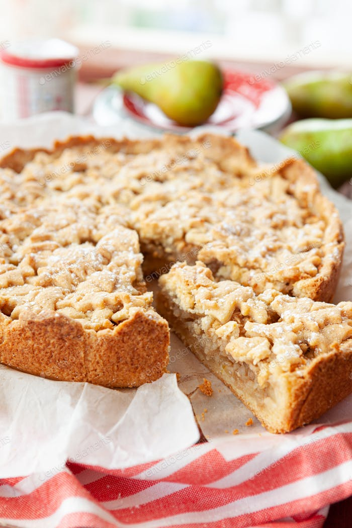 Homemade apple pear cake