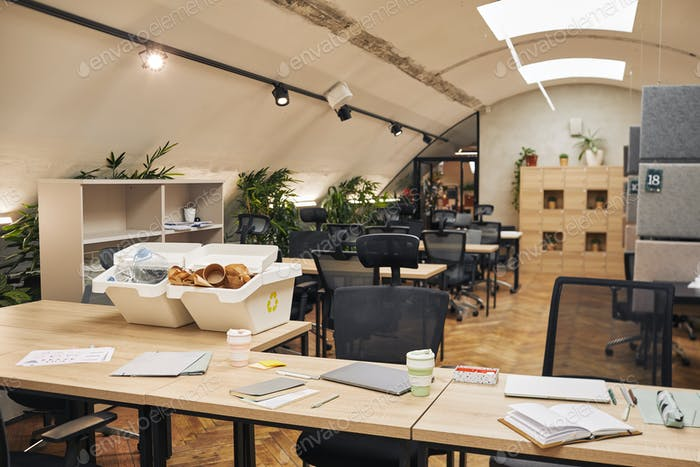 Recycling Bins in Modern Office