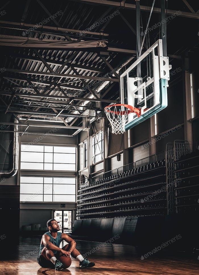Black basketball player a basketball hall