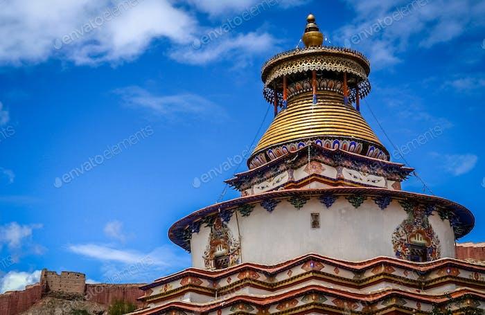 Buddhist Kumbum chorten in Gyantse
