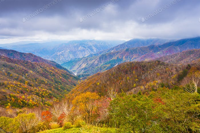 Landscape in Nikko National Park in Tochigi, Japan.