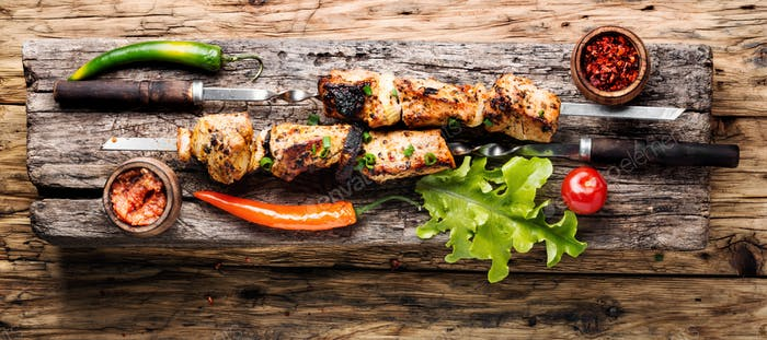 Kebab or shashlik