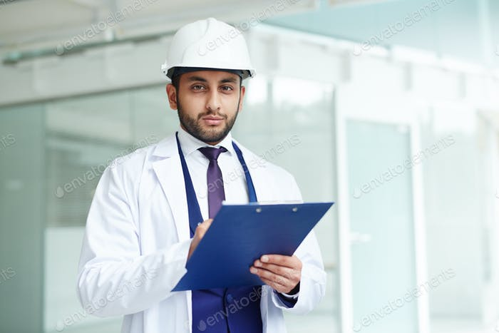 Worker in helmet