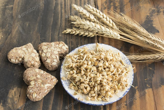 Sprouted Wheat and Whole Wheat Cookies