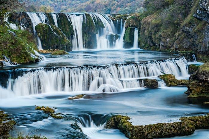 Strbacki buk waterfall in Bosnia Una National Park