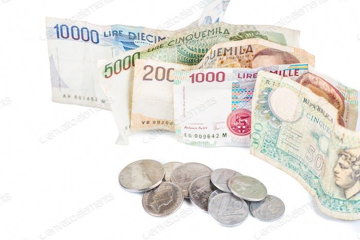 Banknoten aus Italien.