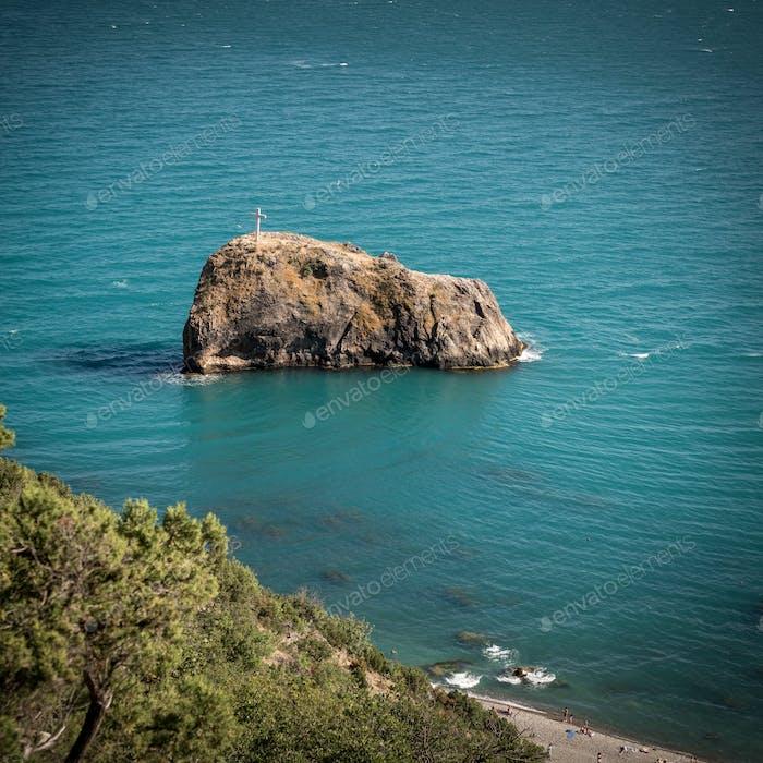 Rock of the holy phenomenon. Fiolent. Crimea.