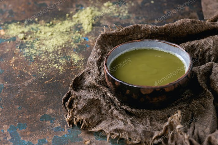 Cup of matcha tea