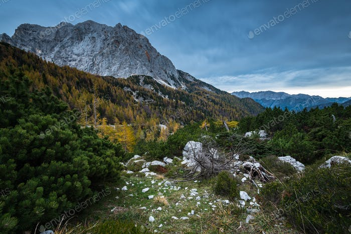 Triglav peak in Slovenia Alps