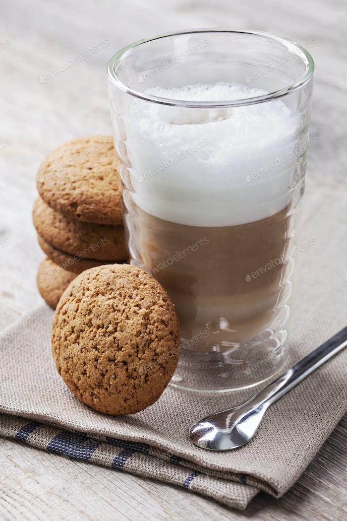 Latte macchiato cafee