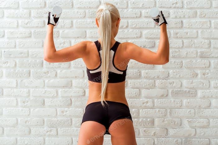 Schöne starke Sportlerin