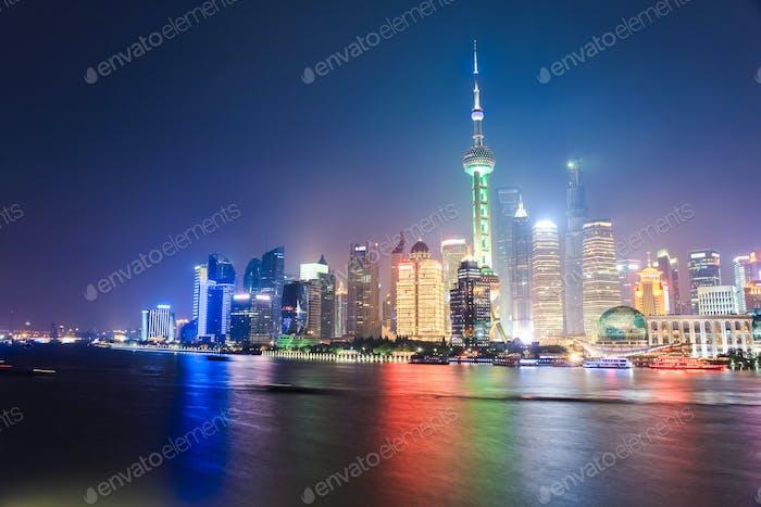 schöne Shanghai Nachtszene