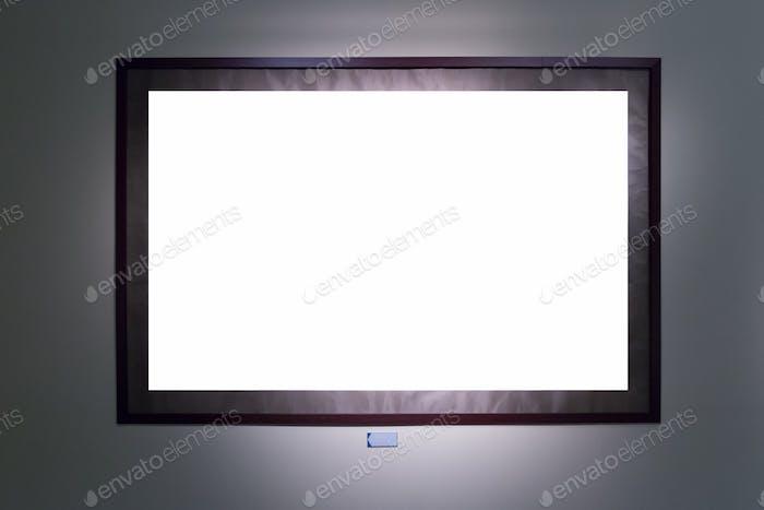 blank single frame on wall