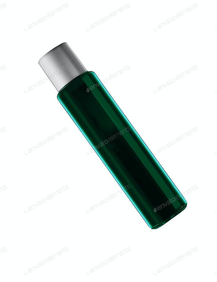 Dark blue parfume bottle isolated