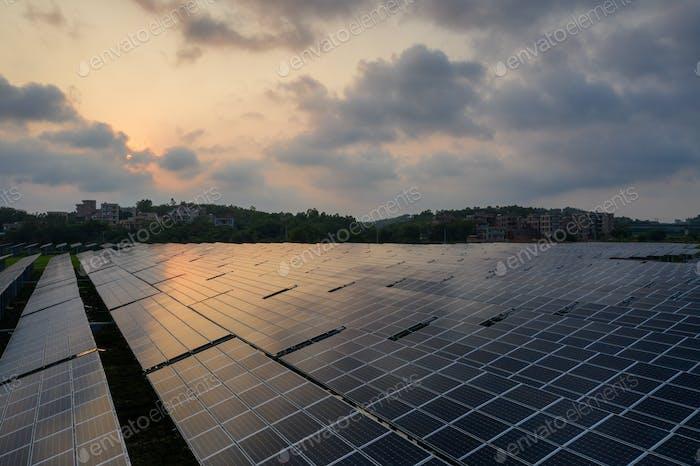 the solar panels