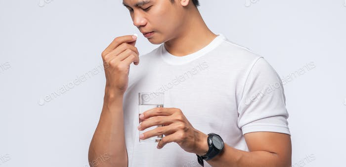 Men who are sick and are about to take antibiotics
