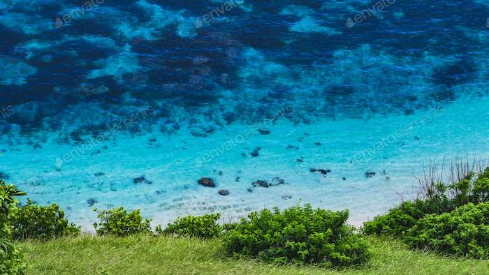 Blue Water on Nyangnyang Beach, Uluwatu, Bali