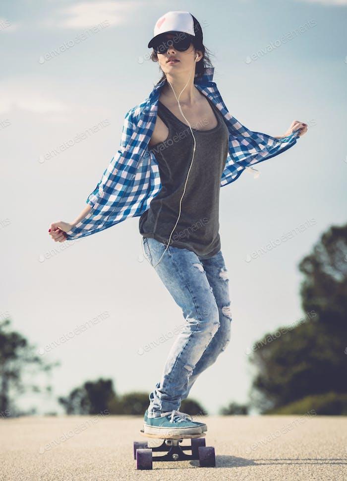 Skater Mädchen
