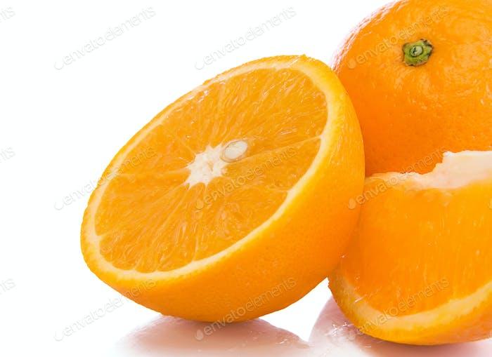 Orangen Obst isoliert auf weiß