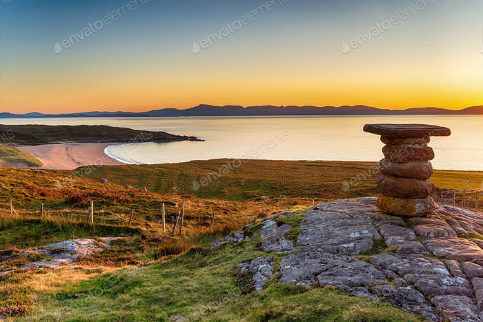 Sunset at Redpoint near Gairloch