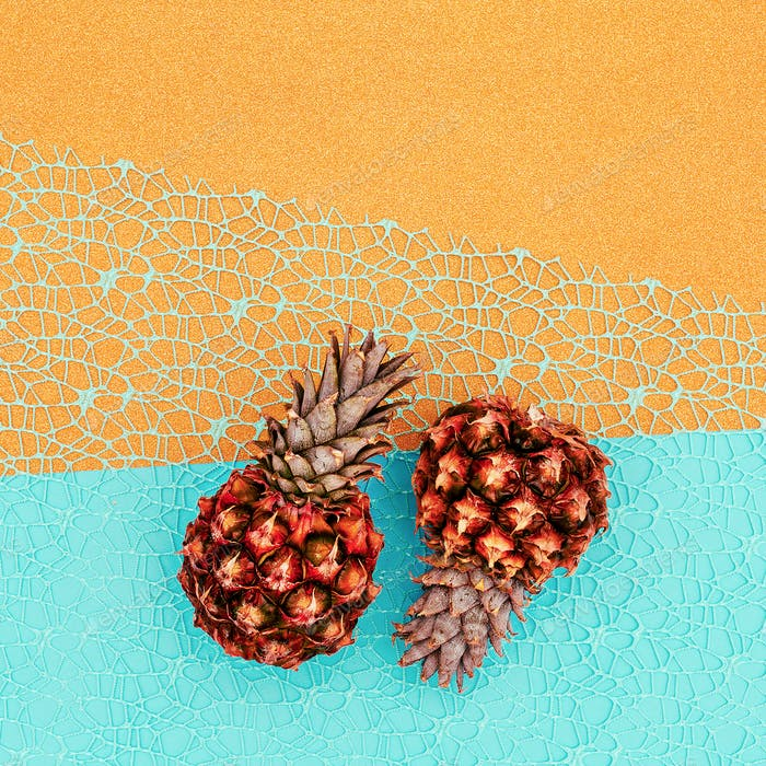 Two mini pineapple Minimal art