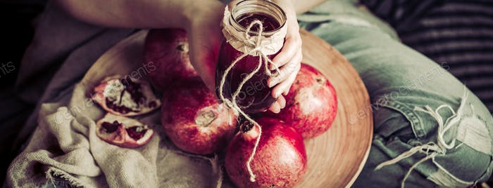 healthy eating pomegranate juice