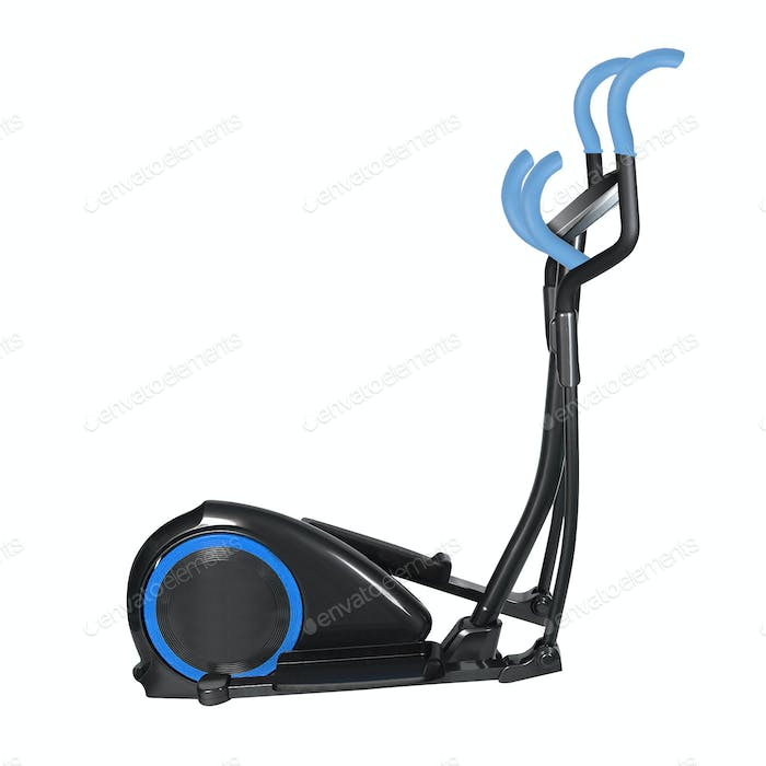 elliptical cross trainer isolated on a white background