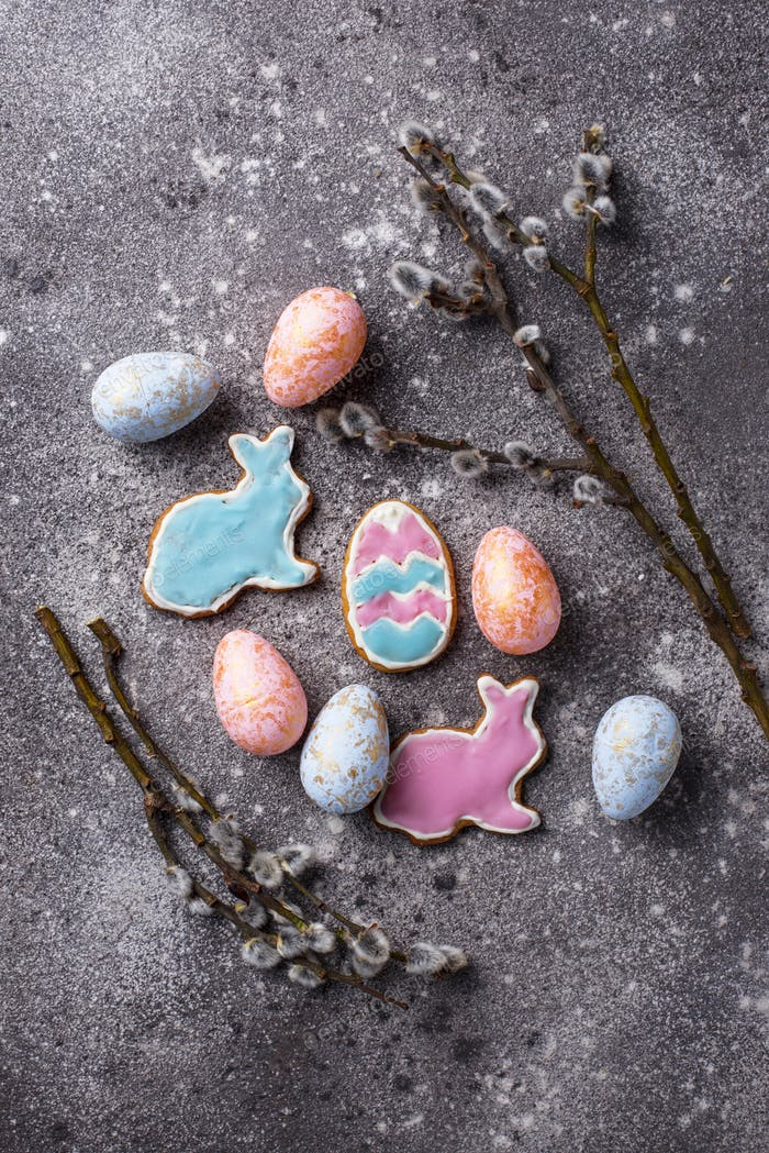 Thumbnail for Easter cookie in shape of bunny and sheep