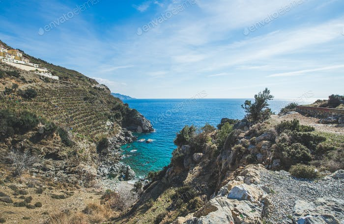 Beautiful natural clear lagoon at Mediterranean sea coast, Turkey