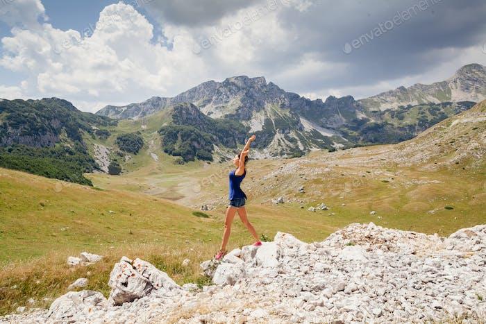 Frau Reisen Berge