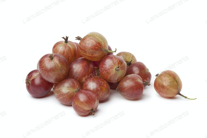 Heap of red Gooseberries