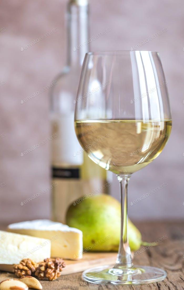 Glass of white wine