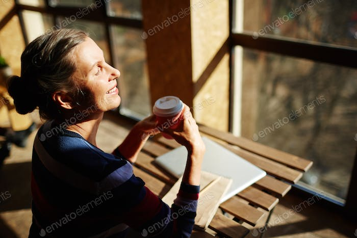 Woman in sunlight