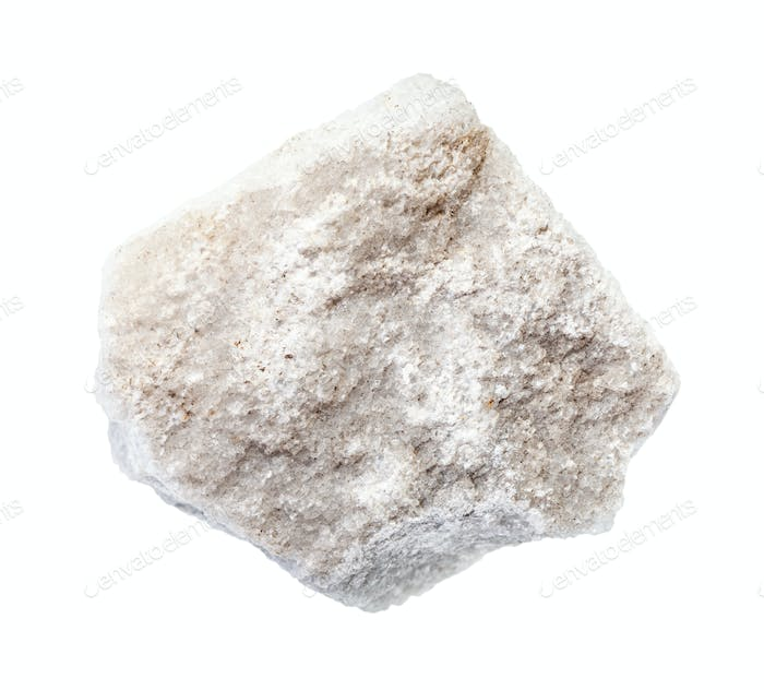 rough Marble rock isolated on white