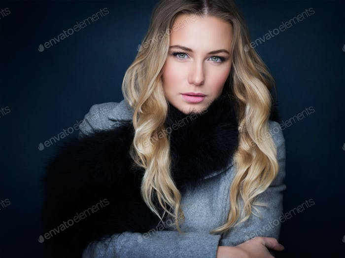 Stylish woman portrait