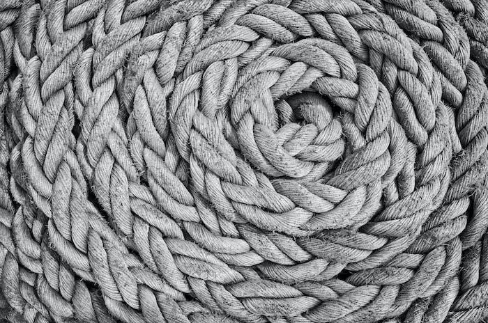 Old sailing ship rope.