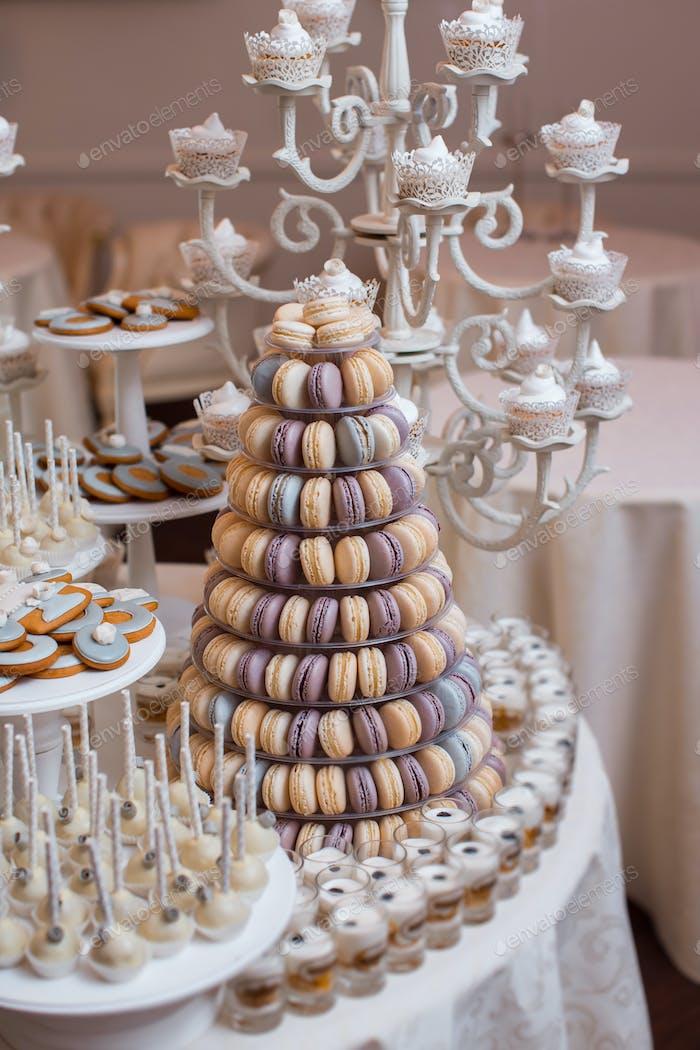 Kit de mesa de caramelos de Boda de lujo.