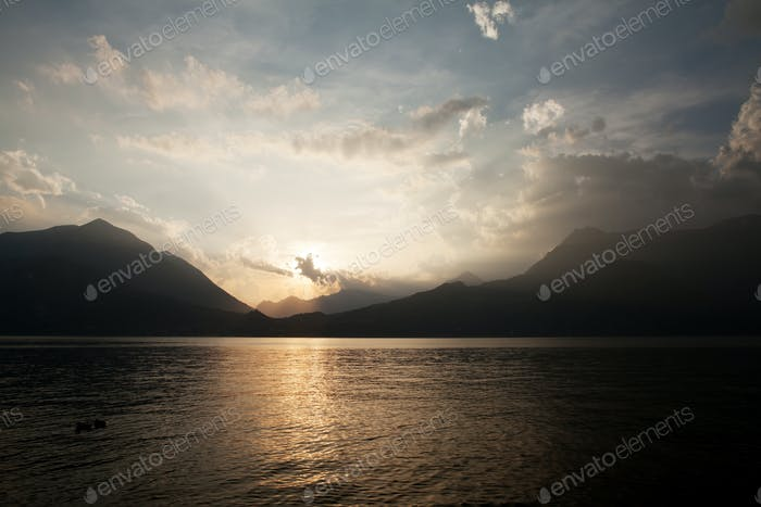 Lake Como sunset landscape