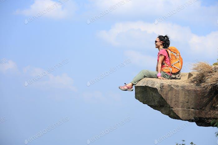 Enjoy the view on cliff edge