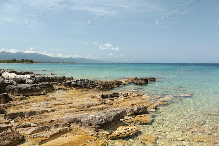 Coast of the Adriatic Sea in Croatia
