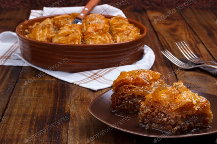 Homemade traditional baklava