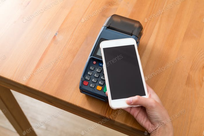 Cellphone pay on NFC pos machine