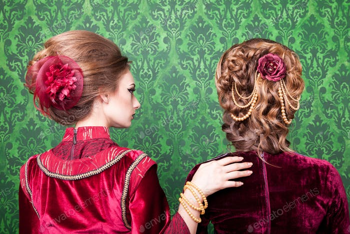 Thumbnail for Beautiful hairstyle in vintage style