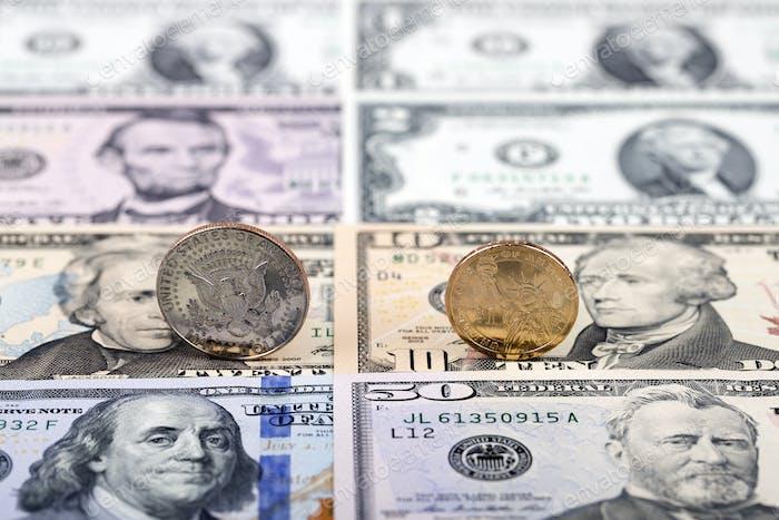 American Dollar coins
