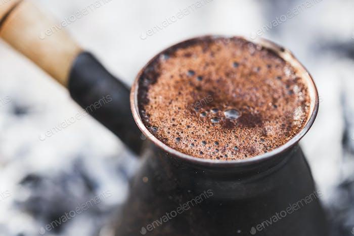 Fresh brewed coffee in Turku