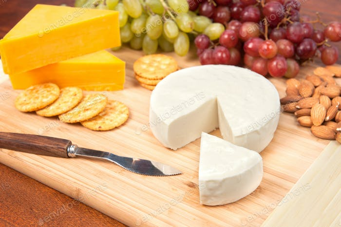 Cheese tray with fruit