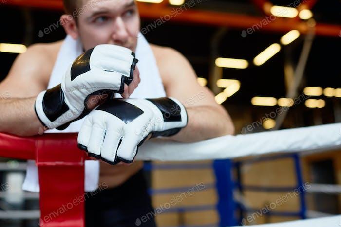 Boxer in gloves