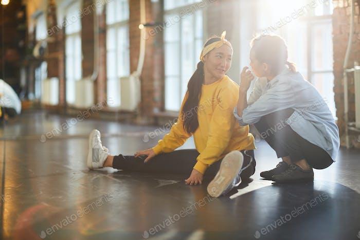 Diskutieren von Tanzproblemen