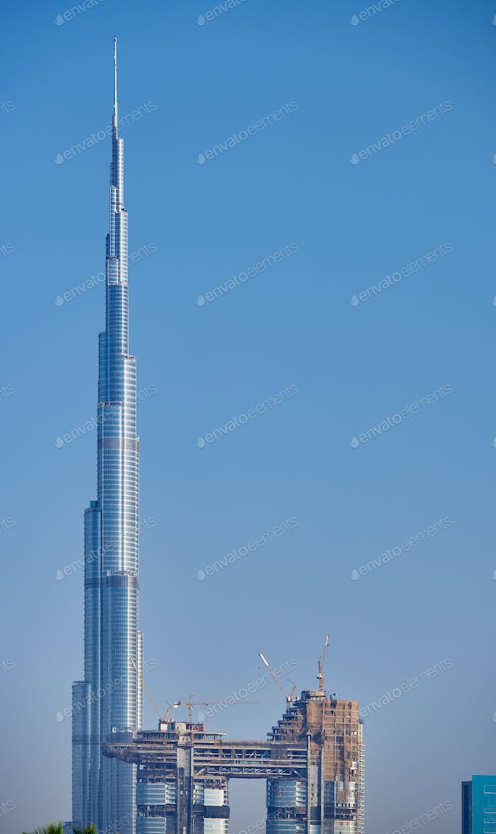 Dubai skyline in United Arab Emirates