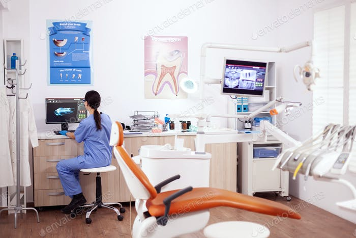 Stomatology office with modern equipment
